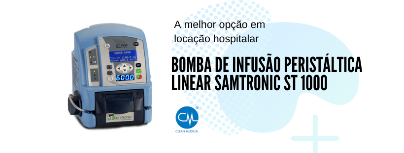 Bomba de infusão peristáltica linear Samtronic ST 1000